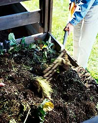 turning compost-stock