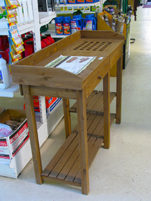 This Sturdy Potting Bench Features A Spacious And Convenient Triple Tier  Shelving Design For Use As Storage, A Work Surface Or To Double As A Patio  Buffet ...
